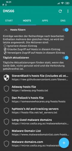 Adblocker ohne root zum zweiten / DNS66 | Mi-Forum